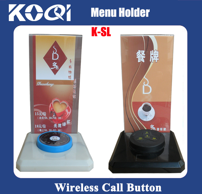 Menu Holder K-SL for wireless call buttons
