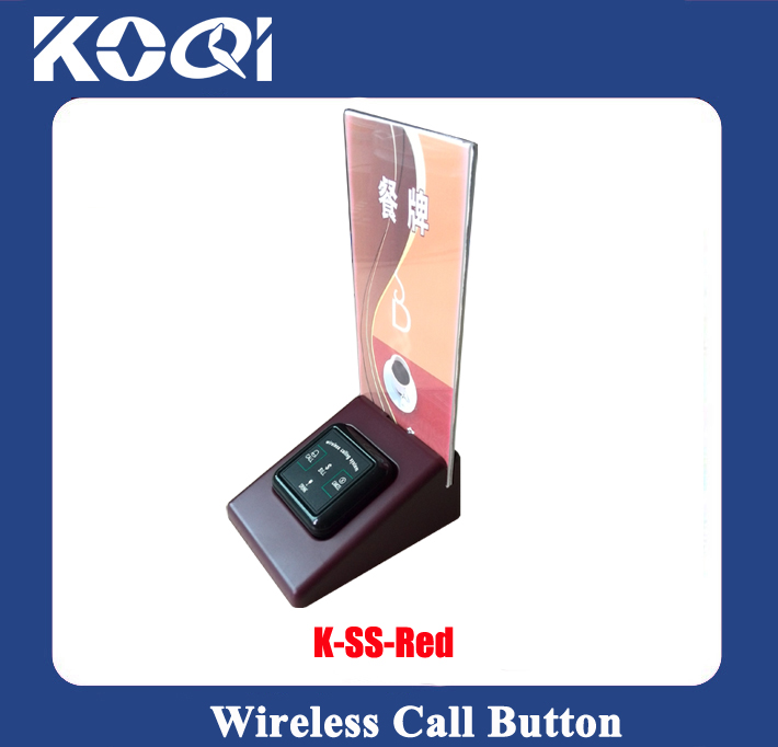 Menu Holder K-SS for wireless call buttons