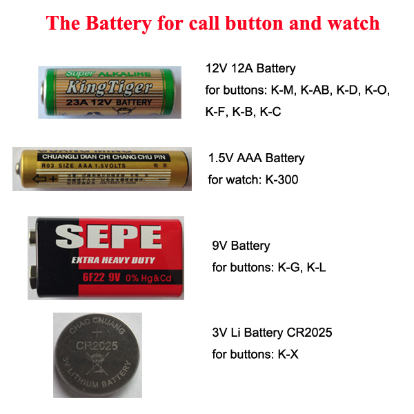 Battery for Wireless Call Buttons