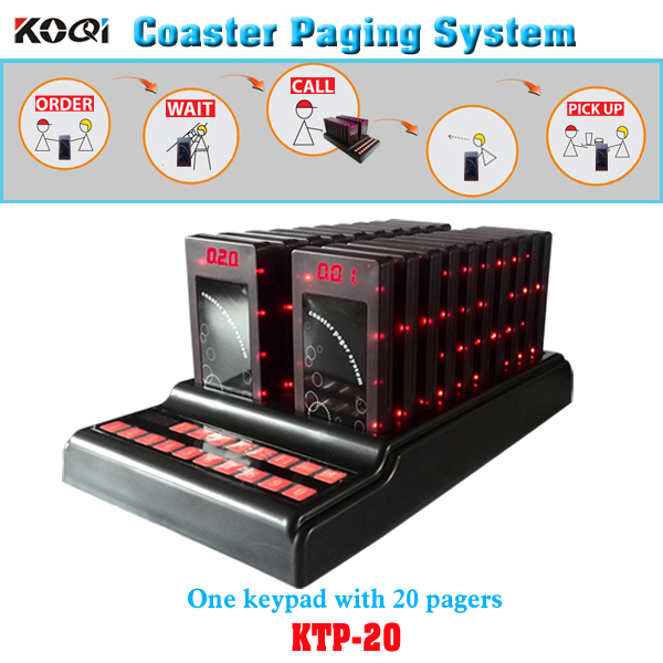 Coaster Pager System K-TP20 with 20 pagers