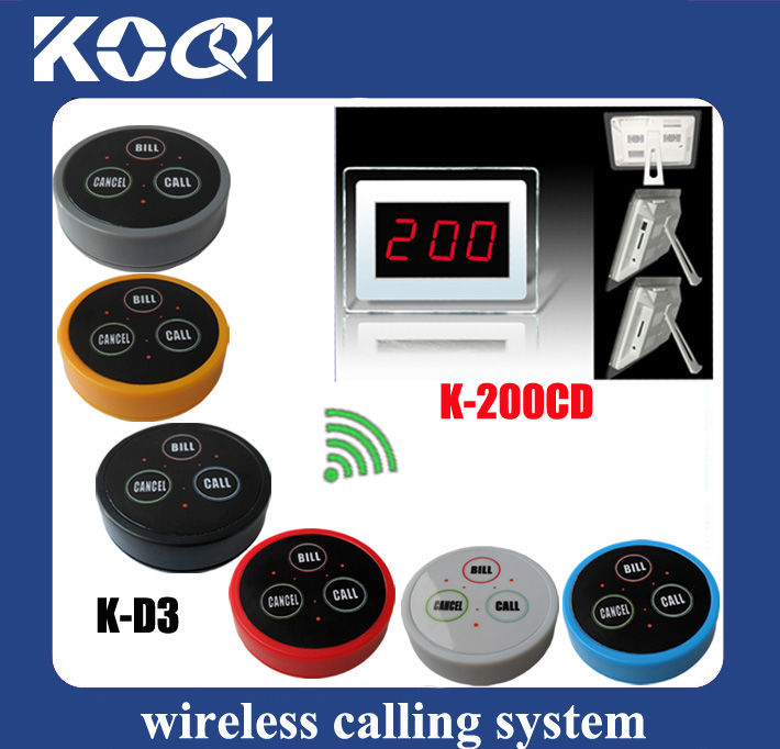 Wireless Pager Restaurant K-200CD+D3