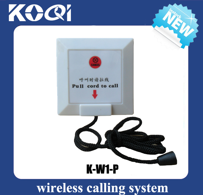 Wireless Calling System Call Button with pull cord