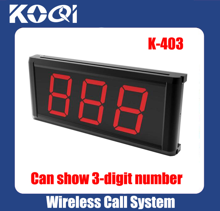 Wireless Calling System Receiver Display K-403