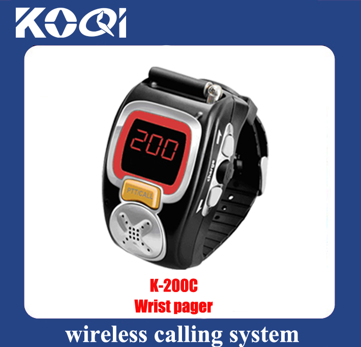 Wireless Calling System Receiver Watch K-200C