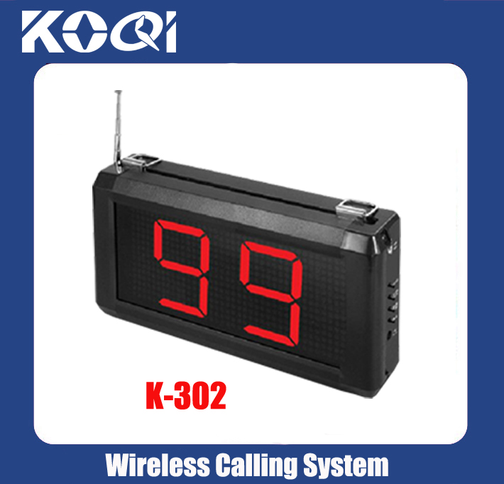 Wireless Calling System Display Receiver K-302