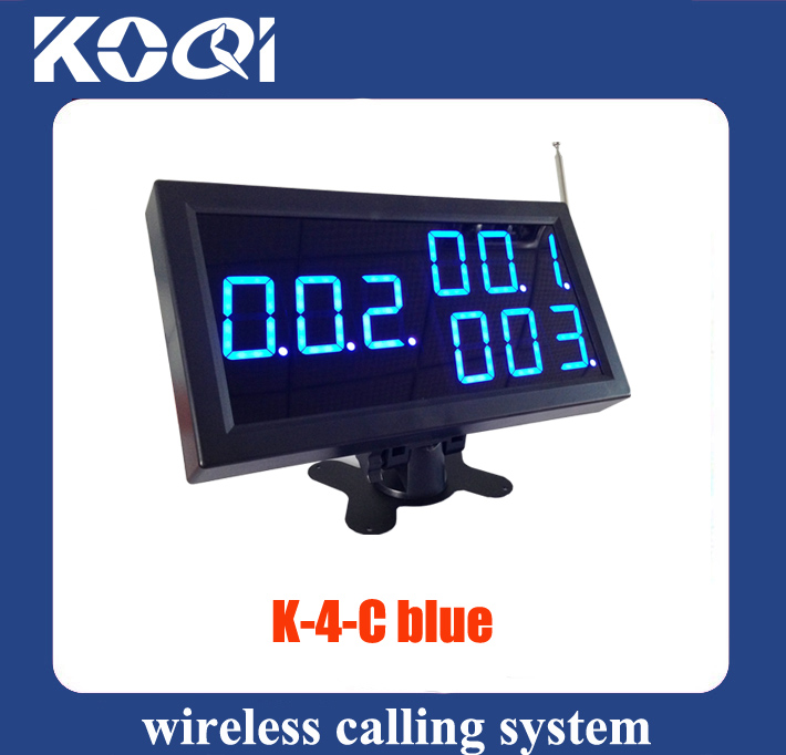 Wireless Calling System Display Receiver K-4-C-Blu