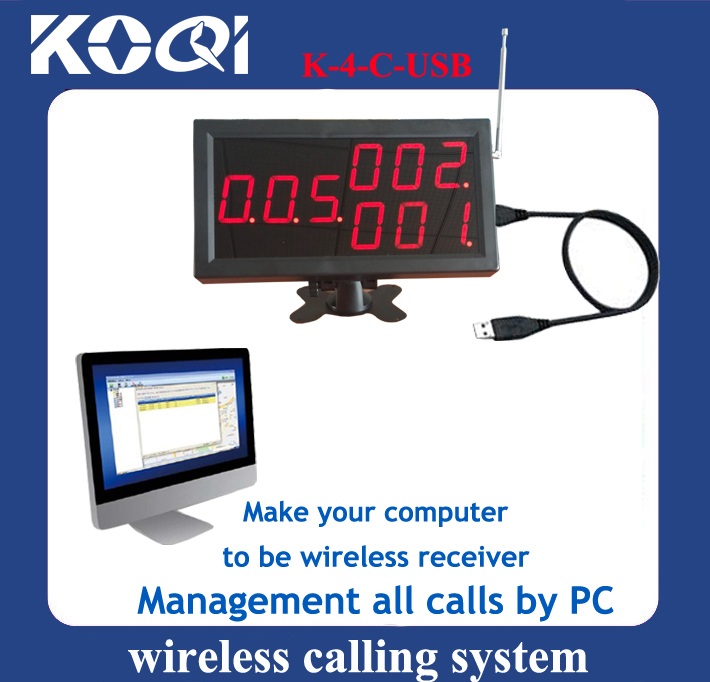 Wireless Calling System Display Receiver K-4-C-USB