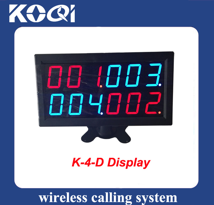 Wireless Calling System Display Receiver K-4-D