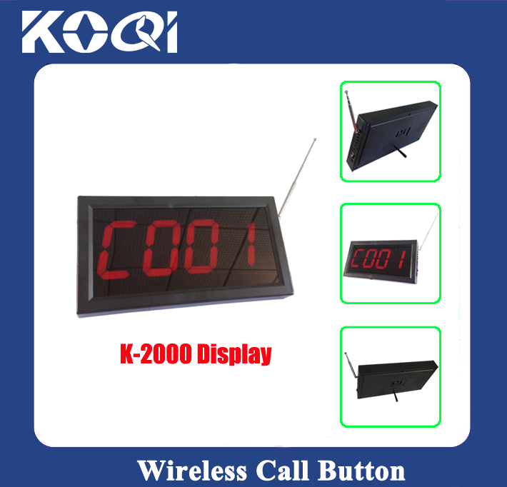 Wireless Calling System Display Receiver K-2000