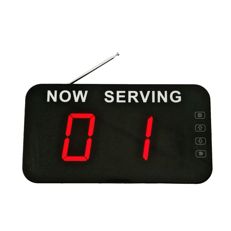 Queue number system display