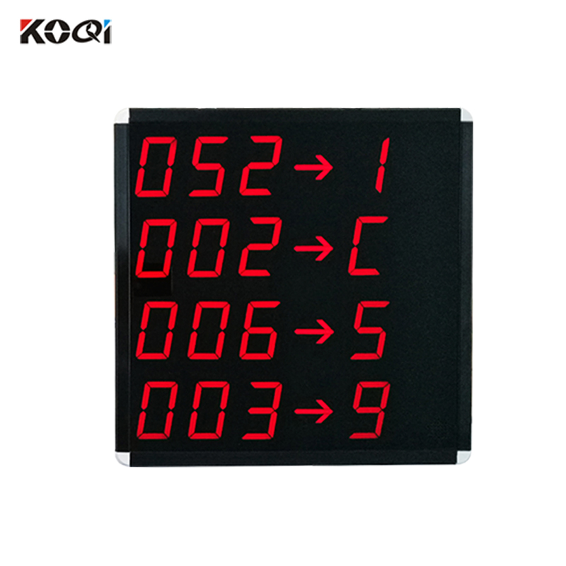 Number wait system display
