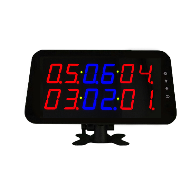 Electronic number system display