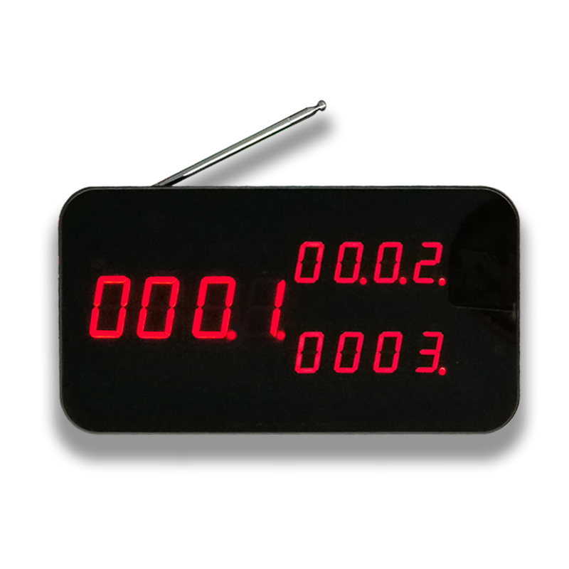Wireless waiter call system display
