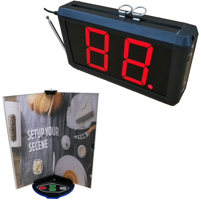 Restaurant Wireless Call System With Menu Holder